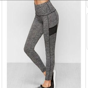 Grey Marled Knit Leggings